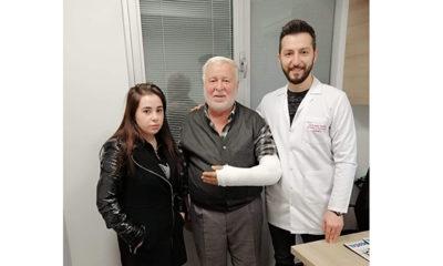 Giresun'da odun keserken koluna darbe alan yaşlı adam şifayı Trabzon'da buldu