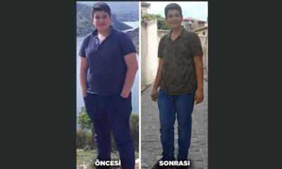 16 yaşında azmiyle 4 ayda 25 kilo verdi