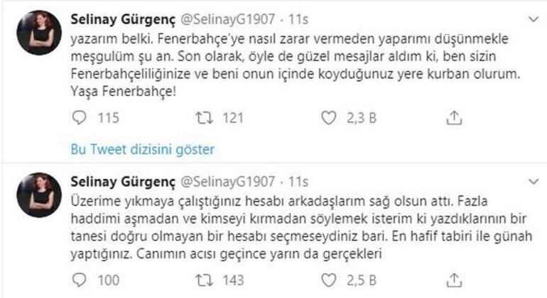 Comolli'nin asistanı Selinay Gürgenç'ten ilk açıklama
