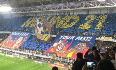 Fenerbahçe – Galatasaray derbisinde dikkat çeken koreografi