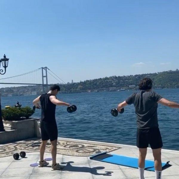 Sabancılar Boğaz'a karşı spor yaptı