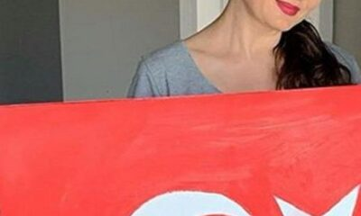 Nurgül Yeşilçay'ın bayrak çalışması