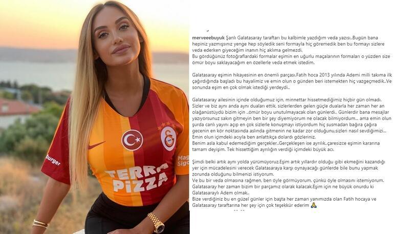Adem Büyükün eşi Merve Büyükten Galatasaraya veda mesajı
