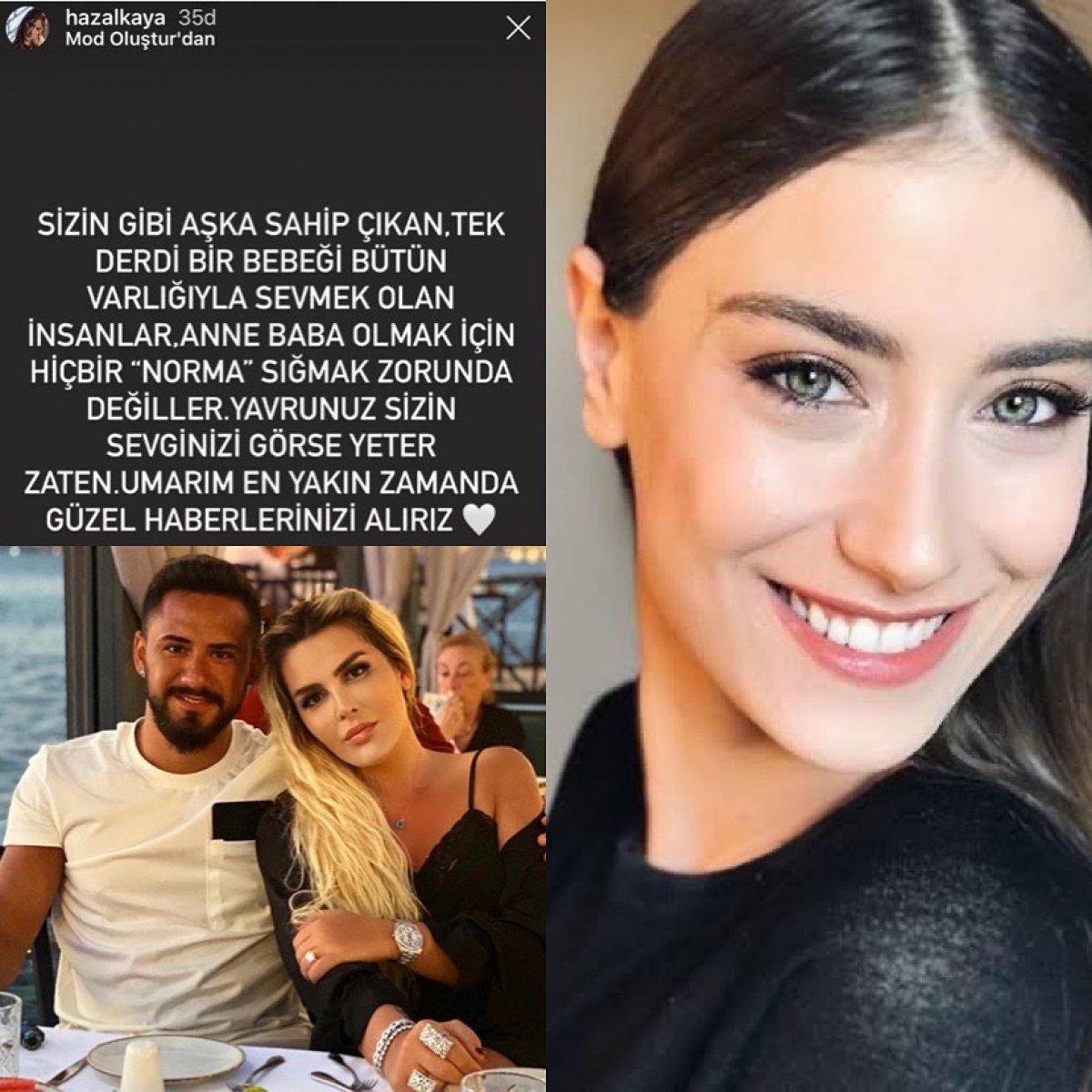 Hazal Kaya dan Selin Ciğerci ye destek #1