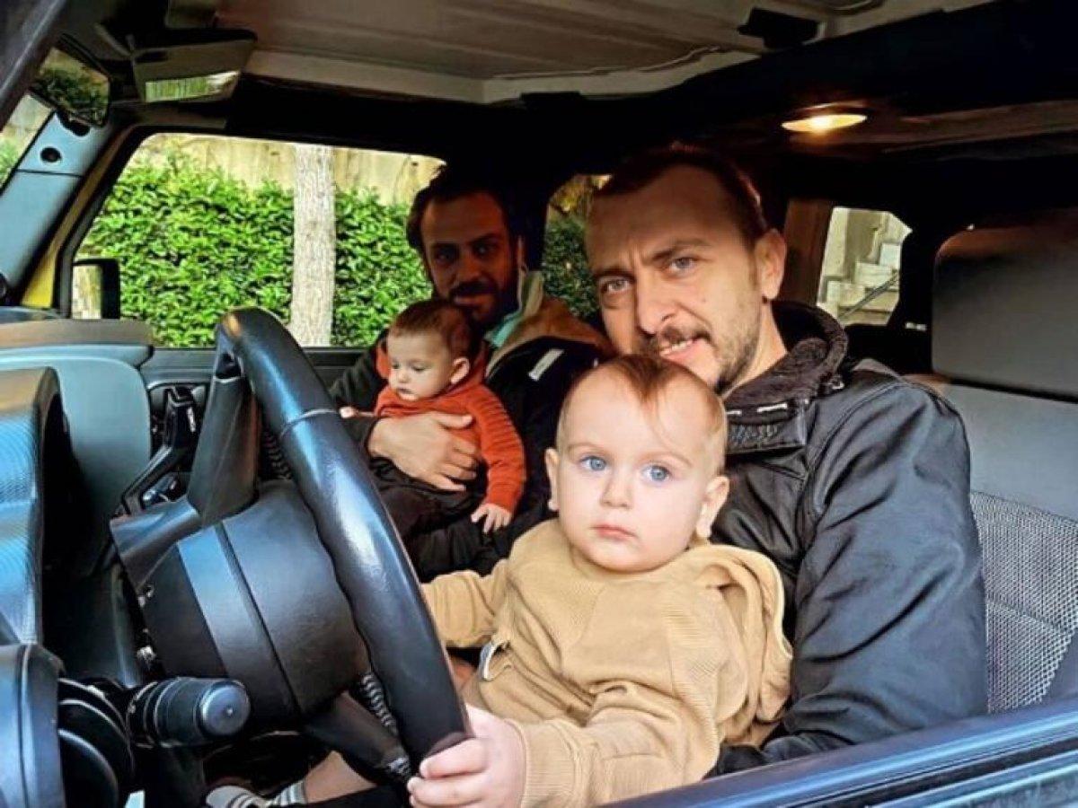 Erkan Kolçak Köstendil ve Ali Atay dan çocuklu poz #1