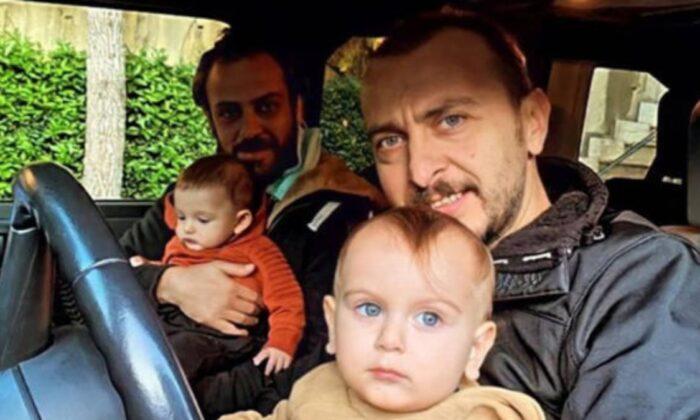 Erkan Kolçak Köstendil ve Ali Atay'dan çocuklu poz