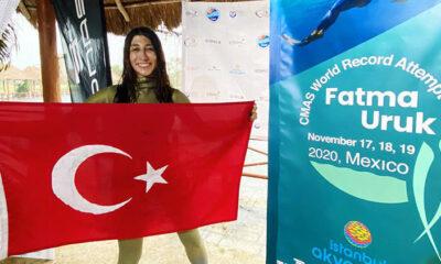 Son Dakika Haberi | Serbest dalışçı Fatma Uruk'tan 3 günde 3 dünya rekoru