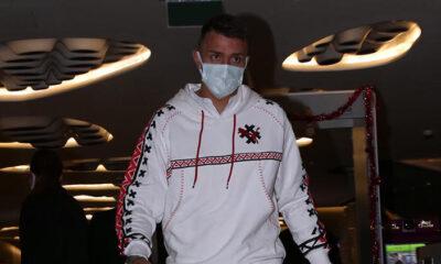 Galatasaraylı futbolculardan Omar Elabdellaoui'ye ziyaret