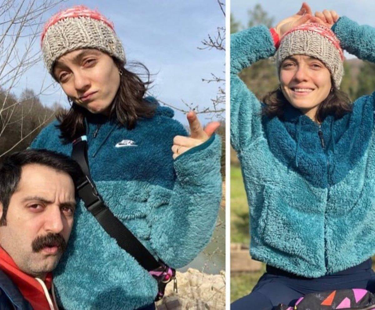 Merve Dizdar-Gürhan Altundaşar dan aşk pozu #1