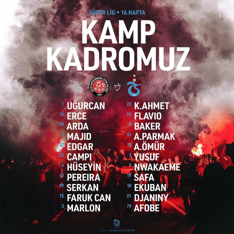 Son dakika | Trabzonsporda Vitor Hugo, Karagümrük maçında yok