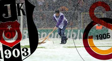 Kasımpaşa maçı öncesinde Türk Telekom Stadı'nda kar önlemleri