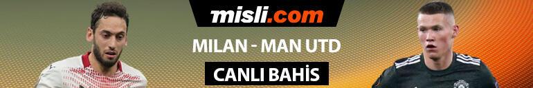 Hakan Çalhanoğlu ilk 11de olacak mı Milanın Manchester United karşısında iddaa oranı...