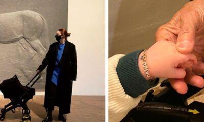 Gigi Hadid yedi aylık kızıyla müze gezdi