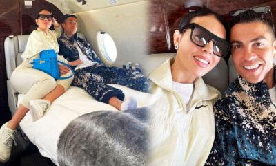 Cristiano Ronaldo ve Georgina Rodriguez'den çok konuşulan özel uçak pozu!