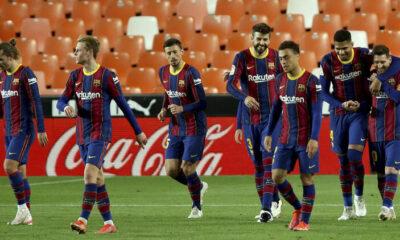 Valencia'yı deplasmanda yenen Barcelona şampiyonluk iddiasını sürdürdü